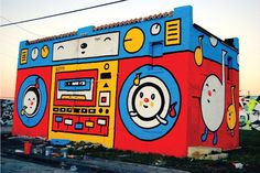 Boombox mural by Sonni studios