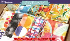 Check out this week's Spoonflower giveaway-- a chance to win a spring fat quarter bundle curated by Michelle Fifis!