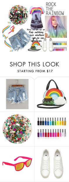 """""""Button shorts"""" by lutashatienda ❤ liked on Polyvore featuring Arco, Deborah Lippmann, Shany and SWG"""