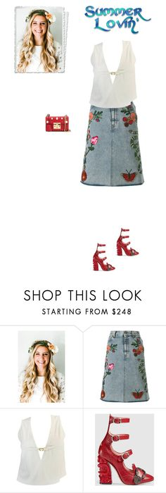 """""""#8160 - Gucci"""" by pretty-girl-in-fashion ❤ liked on Polyvore featuring Emily Rose Flower Crowns and Gucci"""