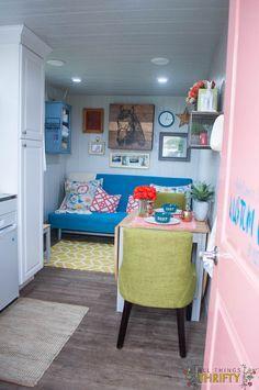 "Tiny Storage Container Cabin called ""Kustom Cozy"""