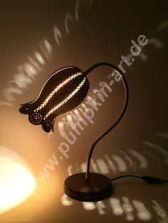 Gourd lamp Bellflower lamp gourd lamp gourd by AtelierPumpkinArt