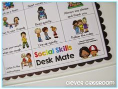 Free teacher download! Free Social Skills Flippy Book and Desk Mate