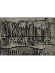 Geoffrey Clarke Man etching