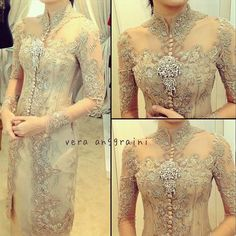 34 Ideas for wedding nails art opi Vera Kebaya, Kebaya Lace, Kebaya Brokat, Batik Kebaya, Kebaya Dress, Batik Dress, Lace Dress, Indonesian Kebaya, Indonesian Wedding