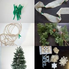 A ribbon is the perfect solution to concealing those bare spots in your Christmas tree while also adding a touch of color and texture. Christmas Tree Decorations Ribbon, Unique Christmas Trees, Alternative Christmas Tree, Ribbon On Christmas Tree, Christmas Love, Christmas Wreaths, Christmas Crafts, Christmas Lights, Vintage Christmas