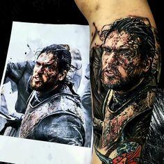 [NO SPOILERS] Jon Snow tattoo by Majorink Jackson
