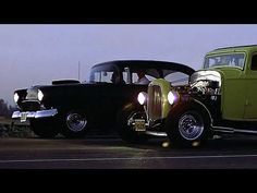 American Graffiti, 1973 featuring the second half of this movie classic CC split Uni Wolfman Jack, Vintage Cars, Antique Cars, American Graffiti, Us Cars, Police Cars, Ducati, Hot Rods, Classic Cars