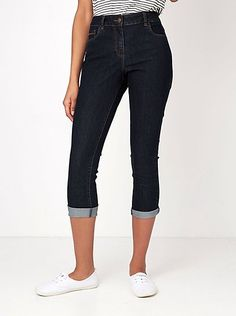 Cropped Dark Jeans - Indigo, read reviews and buy online at George at ASDA. Shop from our latest range in Women. Step up your casualwear with these cropped d...