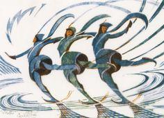 Cyril Edward Power - Skaters (1930)