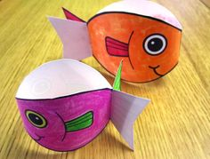 poissons d'avril : Twirly Fish make and then drop to see them twirl down