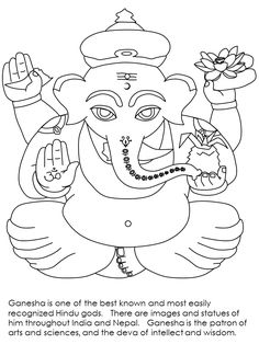print coloring page and book india ganesha countries coloring pages for kids of all ages
