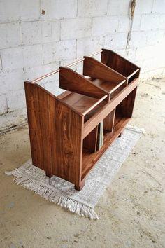 morad storage unit 12 vinyl LP storage console