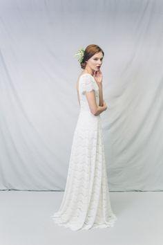 Free Fitted Silk Wedding Dress Illusion Neckline Dress Maternity