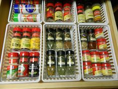Aunt Nubby's Kitchen: Happiness is . . . A Spice Drawer