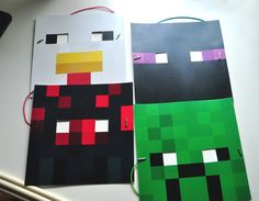 Free pdf download  minecraft masks of  Herobrine, Steve, duck, enderman, cave Spider, zombie, pig. 18 characters in high resolution DIY Minecraft inspired paper masks. Download gift bags, brewing stand, scavenger hunt and  more. Have the best minecraft party ever.