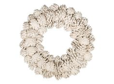Spraypaint pinecones white & attach to a grapevine wreath for a rustic, Maine-inspired home accent.
