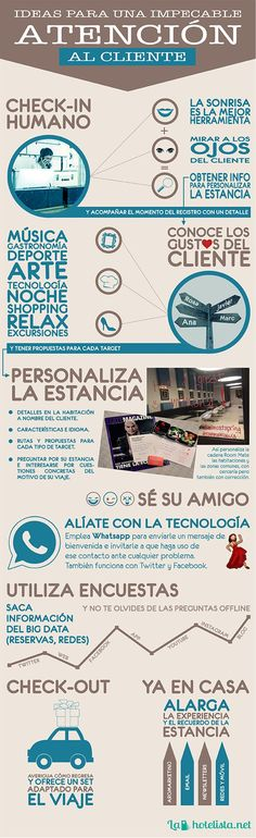 Ideas para una impecable atención al cliente para tu Hotel #infografia #marketing #tourism