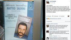 """Offerte lavoro Genova  Rivolta sui social: """"La presentazione del libro è solo politica""""  #Liguria #Genova #operatori #animatori #rappresentanti #tecnico #informatico Alassio Salvini è cultura: patrocinio del Comune"""