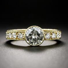 Lang Antique    .91 Carat Estate Engagement Band Ring