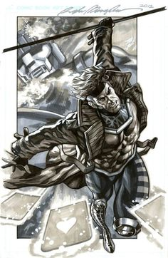 Gambit As a mutant, Remy Etienne LeBeau possesses the ability to mentally create, control and manipulate pure kinetic energy to his every whim and desire. He is also incredibly knowledgeable and skilled in card-throwing, hand-to-hand combat, and the use of a Bō.