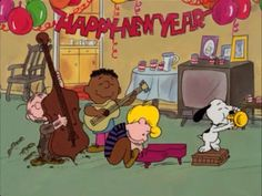 Happy New Year animated charlie brown snoopy gif peanuts happy new year happy new year quote happy new year greeting