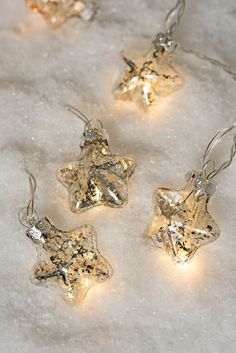 Mini Star LED String Lights - Battery Operated with Vintage Style