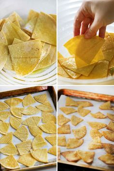 Homemade Tortilla Chips take only 15 minutes and crisp up to golden brown perfection in the oven! All you need is corn tortillas, olive oil, salt, and fresh lime (optional) with 15 minutes for this easy, gluten-free snack perfect for dipping in salsa or making nachos.