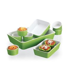 Take a look at this Green Nine-Piece Bakeware Set by Home Essentials and Beyond on #zulily today!