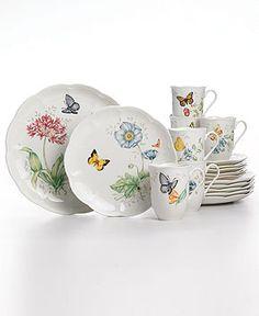 Lenox Dinnerware, Butterfly Meadow. The prettiest breakfast dishes ever.