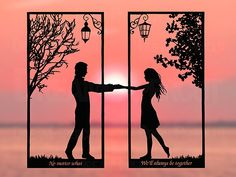 Love Wallpaper, Wallpaper Backgrounds, Papercut Art, First Anniversary Paper, Wedding Anniversary, Paper Cutting Patterns, Long Distance Relationship Gifts, Couple Painting, Silhouette Art