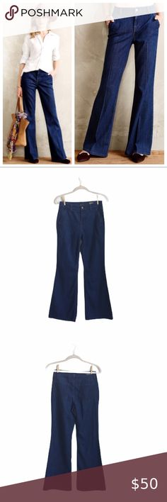 Baby Gap NWT Indigo Blue DENIM JEAN FAVORITE FLARE PANTS BOTTOM 12 18 24 2 3 4 5