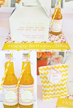 You Are My Sunshine Birthday Party {Modern & Bright}...lots of inspiration