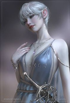 Fantasy Warrior, Fantasy Art, Dark Fantasy, High Elf, Pointed Ears, Fantasy Characters, Fictional Characters, Simple Backgrounds, Silver Hair