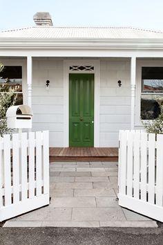Melbourne based architecture and interior design practice. Clare Cousins, Windsor House, Bungalow Exterior, Exterior Paint Colors, Australian Homes, Maine House, Front Design, House Front, House Rooms