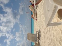 On the sandy beach of Cancun at Live Aqua Hotel: color inspiration.