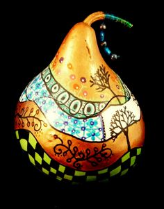 Folk Art Gourd Box. $35.00, via Etsy.