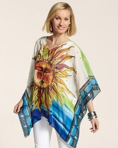 I WANT THIS!! Chico's Ray Of Light Peri Poncho #chicos