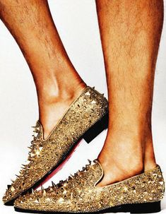 Christian Louboutin Spiked Flats.....for men....but I'd wear them.....if someone sponsored them :)