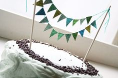 glitter cake bunting