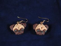 Fawn Pug Earrings