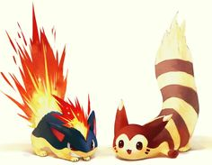 My fav pokemon quilava & furret