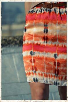 DIY silk the dyed skirt