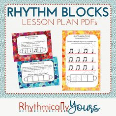 Rhythm Block Lesson PDFs This is a PDF of lessons that use Rhythms Blocks to teach rhythm concepts including composition, decoding, form, and ostinato. Find more information about Rhythm Blocks at http://www.rhythmicallyyours.com ---------------------------------------------------------------------------- Follow me on Facebook!