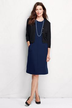 A perfect dress for work, wear with a blazer or cardigan.