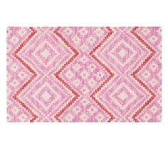 Chunky Chevrogram Rug, Pink/Coral, 3x5u0027, $149, Pottery Barn