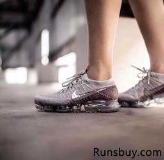 New Nike Air VaporMax 2018 Flyknit Rose Gold Silver Women Men
