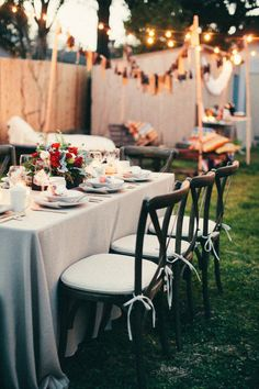 Outdoor dinner | Styling & Design by Jesi Haack | Style Me Pretty Living