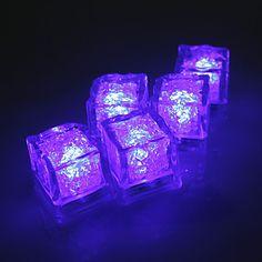 Diamond Ice Cube Shaped Purple LED Light
