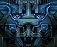 Psicomemorie PM31 - 2010 - © Daniele Del Rosso - #art #artist #painting #contemporaryart #visualarts #psicomemorie #illustration #surrealismart #surrealism #digitalart #danieledelrosso #blue
